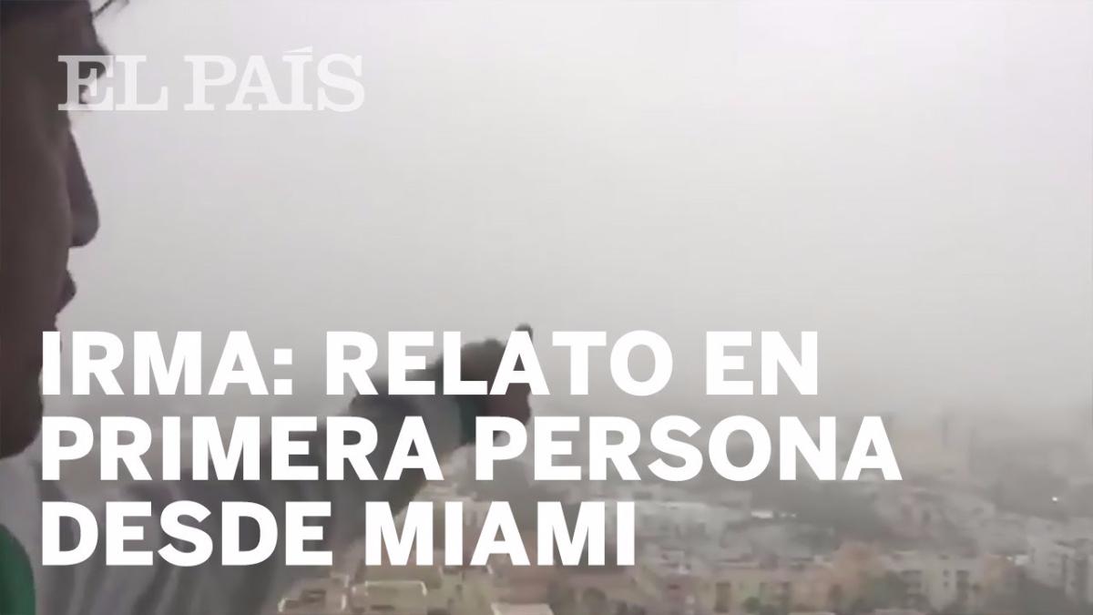 Andrés Asión y su relato sobre el huracán Irma