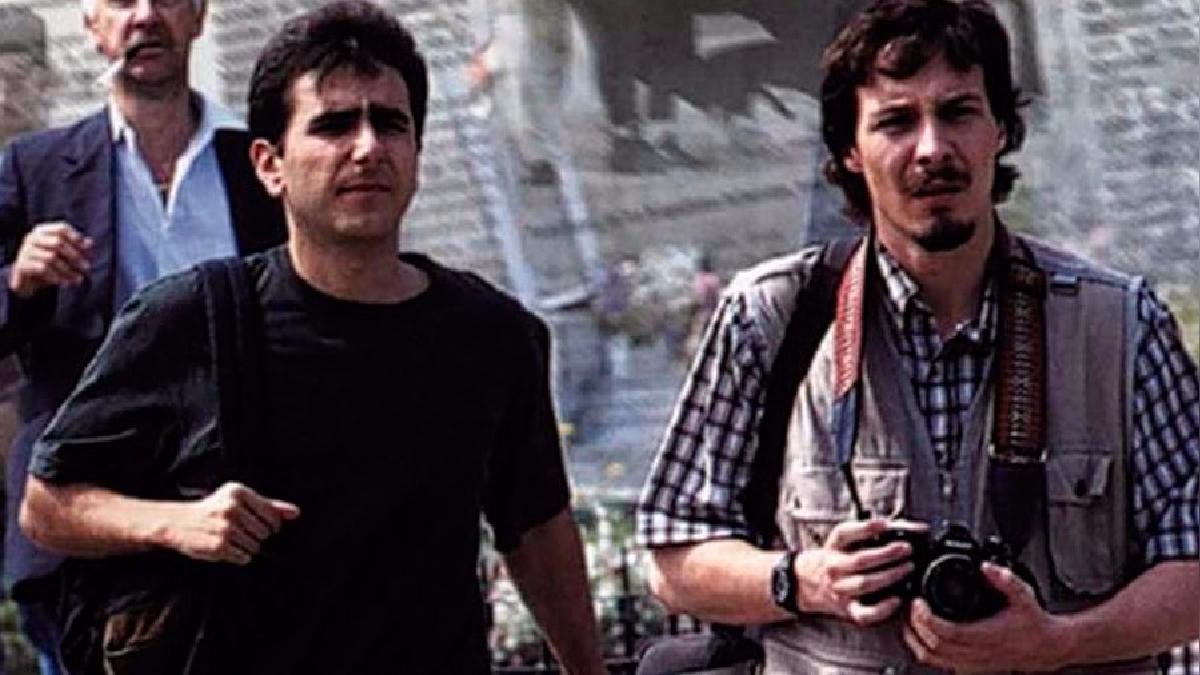 'Tinta Roja' estaba protagonizada por Giovanni Ciccia y Gianfranco Brero.