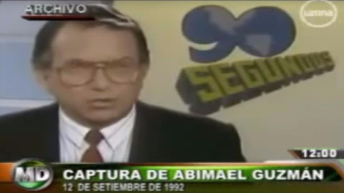 Mario Duarte, conductor de el programa 'Especial de 90 Segundos' , fue quien se encargó de brindar la noticia de la captura de Abimael Guzmán al público.