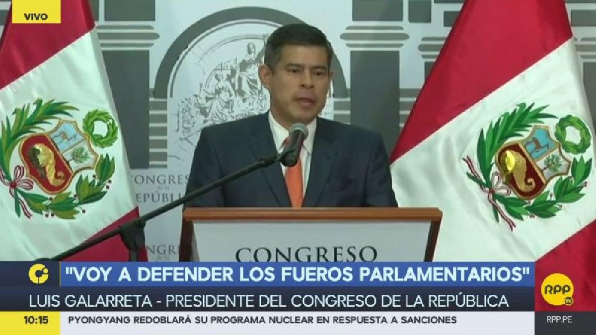 Luis Galarreta anunció que Fernando Zavala fue citado al Congreso a las 4:00 p.m. de este jueves.