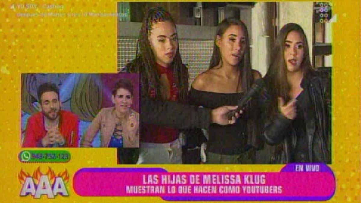 Las hijas de Melissa Klug en el programa Amor, Amor, Amor.
