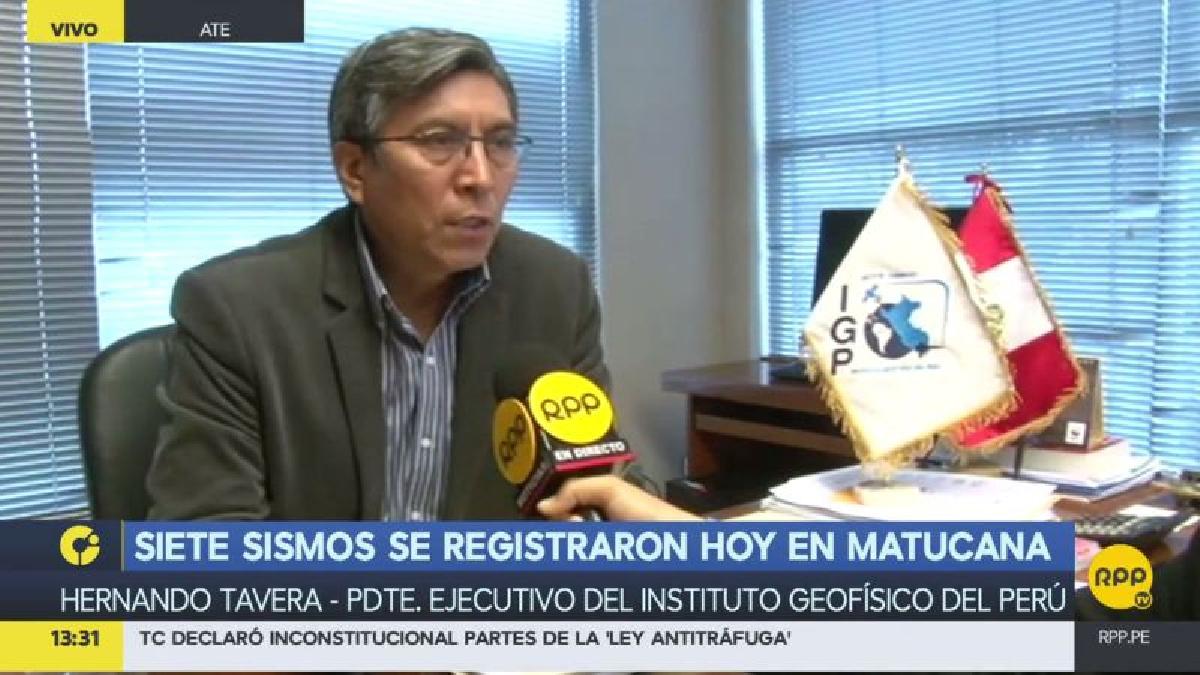 El ingeniero Hernando Tavera, del IGP, explicó por qué se produjo una seguidilla de sismos en Matucana.