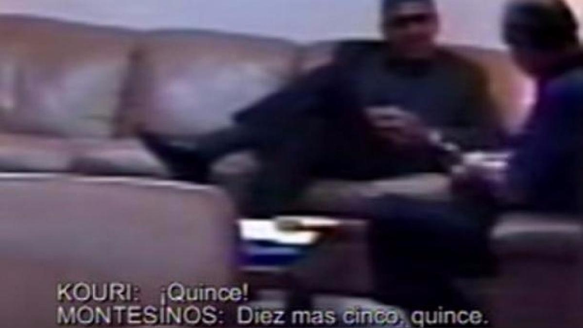 Este fue el video que evidenció la red de corrupción montada por Vladimiro Montesinos.