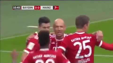 Resumen y goles del partido entre Bayern Munich y Mainz 05.