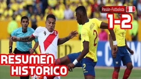Mira aquí los goles del Perú 2-1 Ecuador.