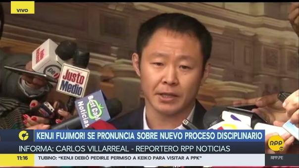 Kenji Fujimori anunció que no renunciará a Fuerza Popular pese a la apertura de un segundo proceso disciplinario en su contra.