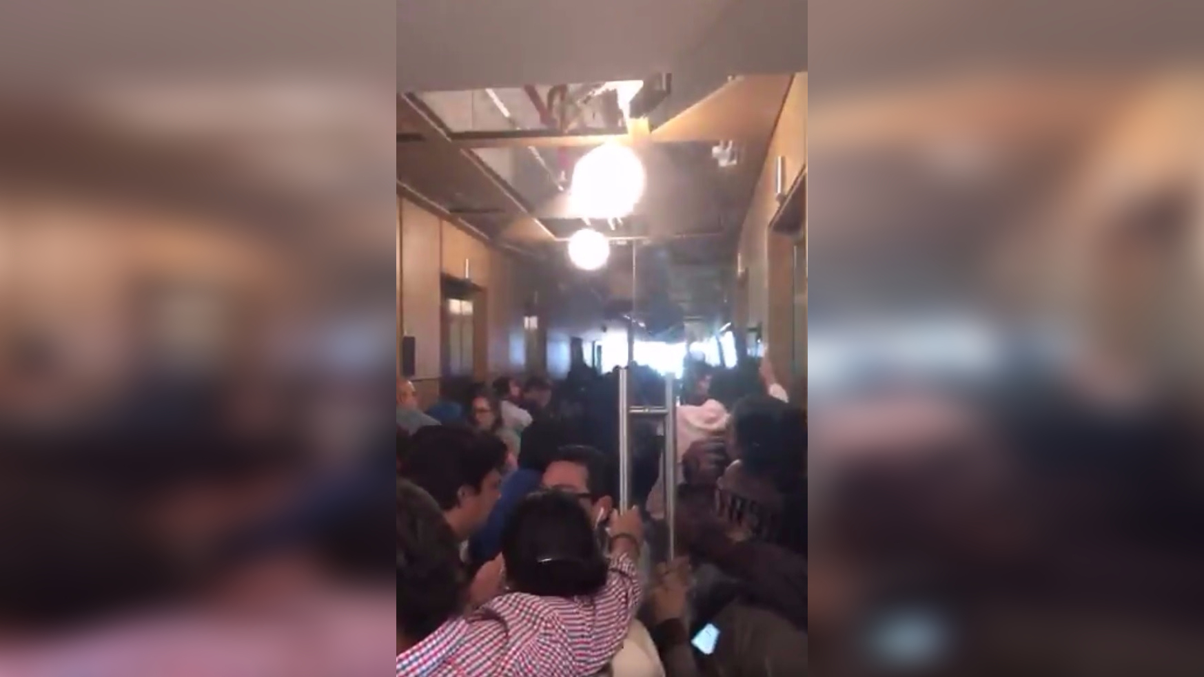 Así se vivió el sismo en el piso 38 de un edificio