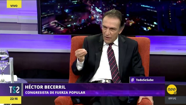 Héctor Becerril cuestionó el trabajo del mandatario de Pedro Pablo Kuczynski.