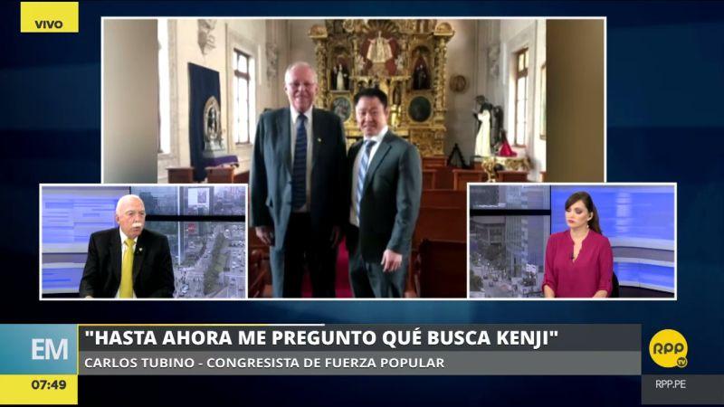 Carlos Tubino consideró que Kenji Fujimori debió pedir permiso a Keiko para reunirse con PPK en Palacio.
