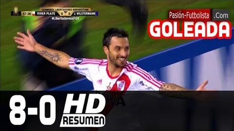 River Plate inició la remontada con un gol a los 8 minutos.