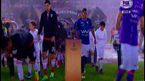 El ingreso de los jugadores para el River Plate vs. Wilstermann.
