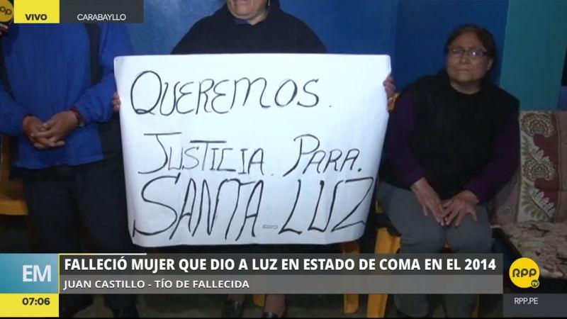 Los familiares de Santa Luz Cullanco Rodríguez reclaman que el proceso iniciado contra los presuntos responsables aún no culmina.