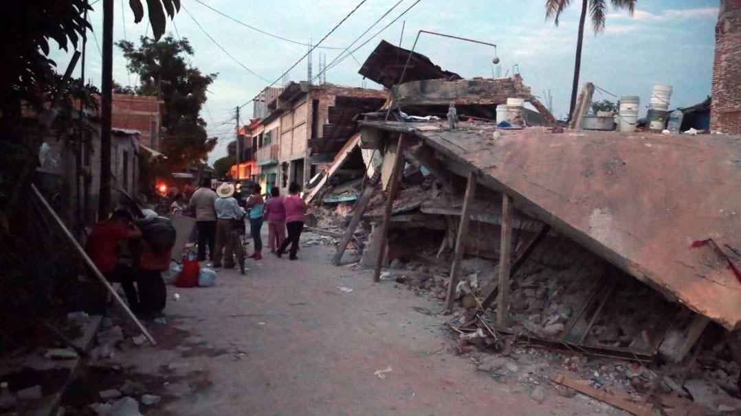 Un vecino de Jojutla grabó imágenes en video poco tiempo después del terremoto del martes 19 de septiembre.
