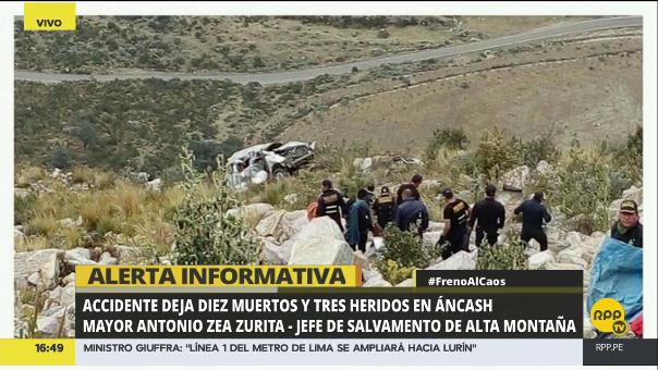 Accidente de tránsito dejó nueve muertos en Áncash.