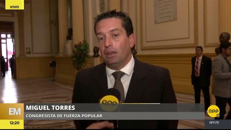 """Miguel Torres dijo que PPK tiene """"la oportunidad histórica de indultar a quien nos dio la pacificación""""."""