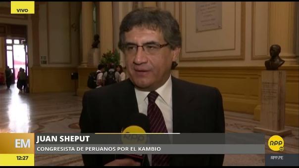 Juan Sheput declaró desde el Congreso, donde el tema del posible indulto a Fujimori dominó la agenda. Miguel Torres (Fuerza Popular) dijo que Kuczynski