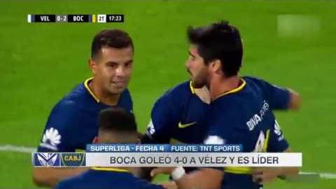 Resumen y goles del partido entre Boca Juniors y Velez Sardfield.