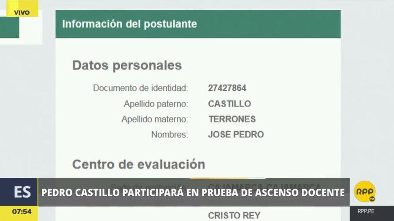 Pedro Castillo rendirá su prueba en la institución educativa Cristo Rey, en Cajamarca.