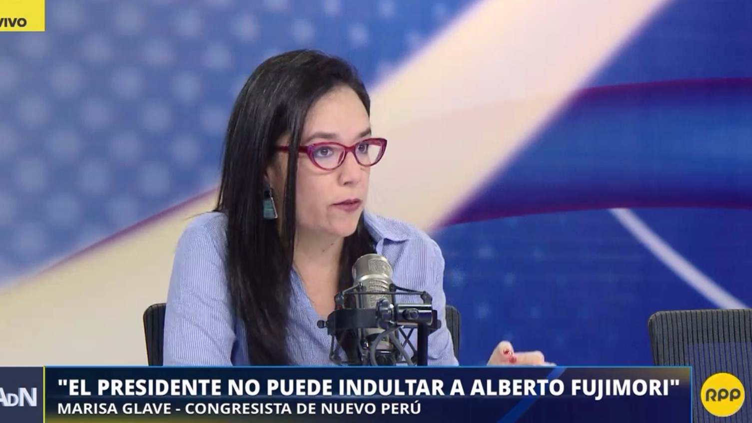 Marisa Glave dijo que el presidente no puede indultar a Fujimori.