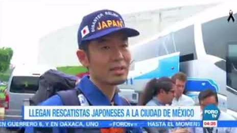 Así fue la llegada de los rescatistas japoneses.