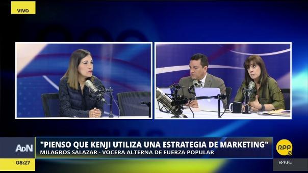 Milagros Salazar sobre por qué los congresistas de Fuerza Popular no visitan al líder histórico del partido.