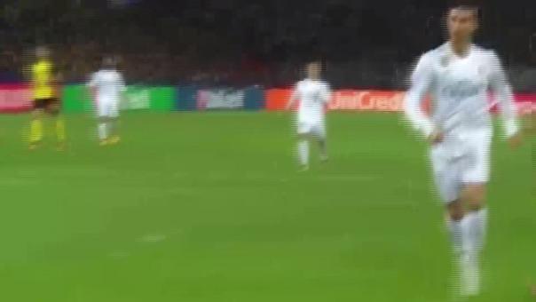 El 'doblete' de Cristiano Ronaldo en el Signal Iduna Park.