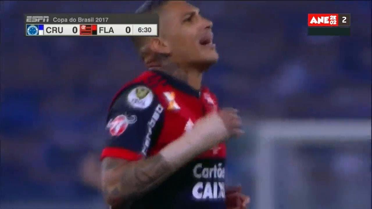 Revive el gran tiro libre de Paolo Guerrero en el Cruzeiro vs. Flamengo.