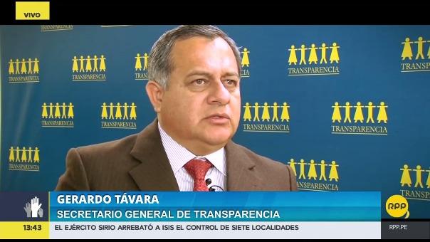 Távara sugiere que se le quite la inscripción a las organizaciones que tienen financistas del narcotráfico.