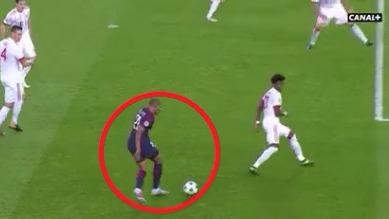 Mbappé lleva un gol en la actual Champions League.