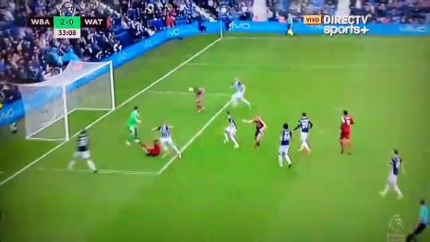 Revisa la acción de André Carrillo en el West Bromwich vs. Watford.