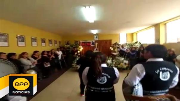 Velatorio de la iglesia Nuestra Señora de la Consolación en Chiclayo.