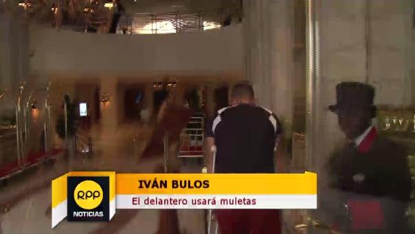 Iván Bulos se lesionó en las prácticas de Perú.