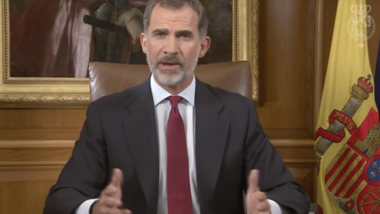 Felipe de Borbón fue muy crítico con el accionar del gobierno Catalán.