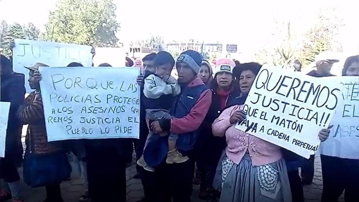 Los pobladores exigen justicia para Honoria y Kenjo.