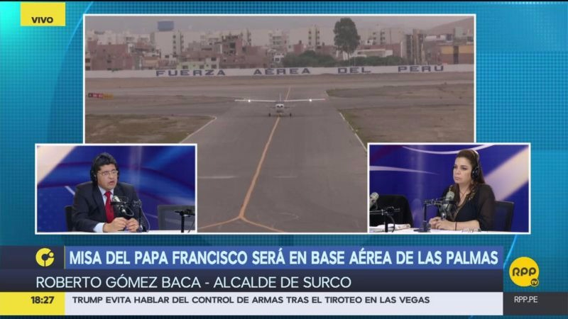 El alcalde comentó que se habilitará más accesos en la base aérea de Las Palmas para la realización de la Misa y que solo se podrá recibir a 830.000 personas por cuestiones de seguridad.