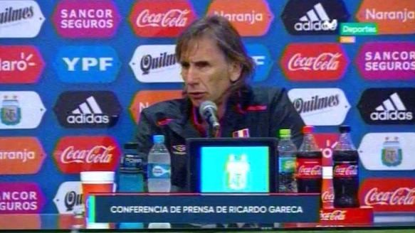 Escucha las declaraciones de Ricardo Gareca después del empate sin goles con Argentina en La Bombonera.