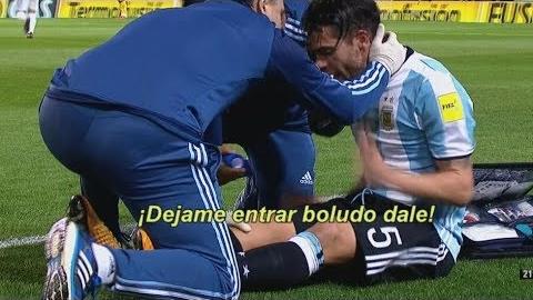 Revive la lesión de Fernando Gago contra Perú en La Bombonera.