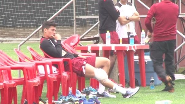 Así lució Iván Bulos en el entrenamiento de la Selección Peruana.