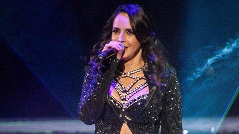 Irán Castillo durante el concierto que ofreció en la ciudad mexicana de Puebla.