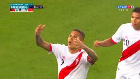 Revive el golazo de Paolo Guerrero a Colombia.