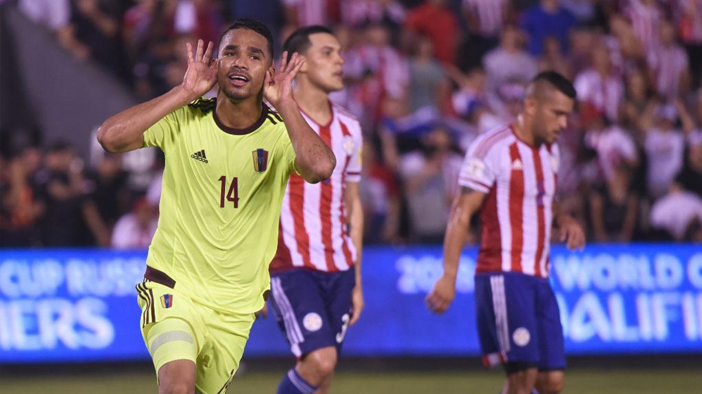 Paraguay derrotó a Colombia en Branquilla, pero perdió en Asunción ante Venezuela.