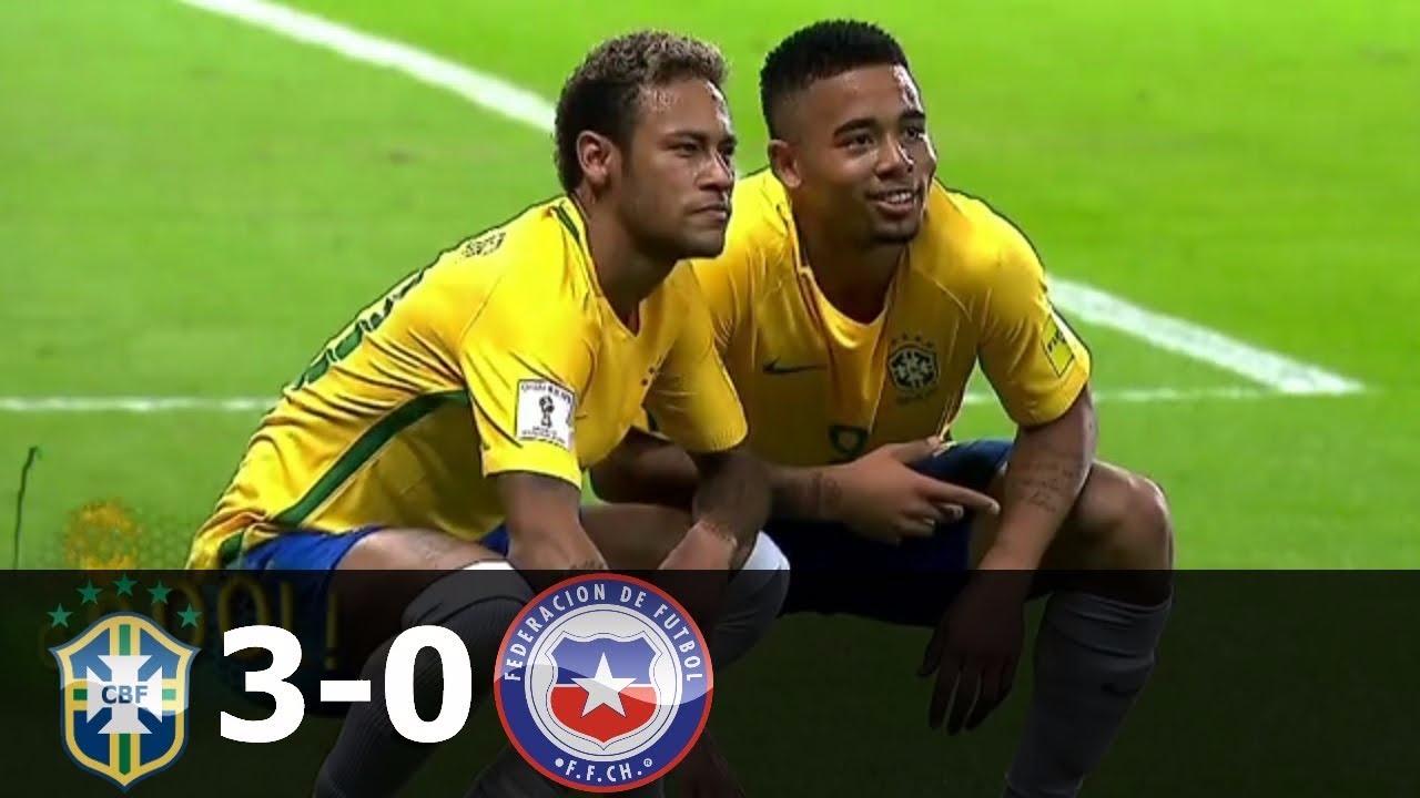 Revisa el resumen del Brasil 3-0 Chile.