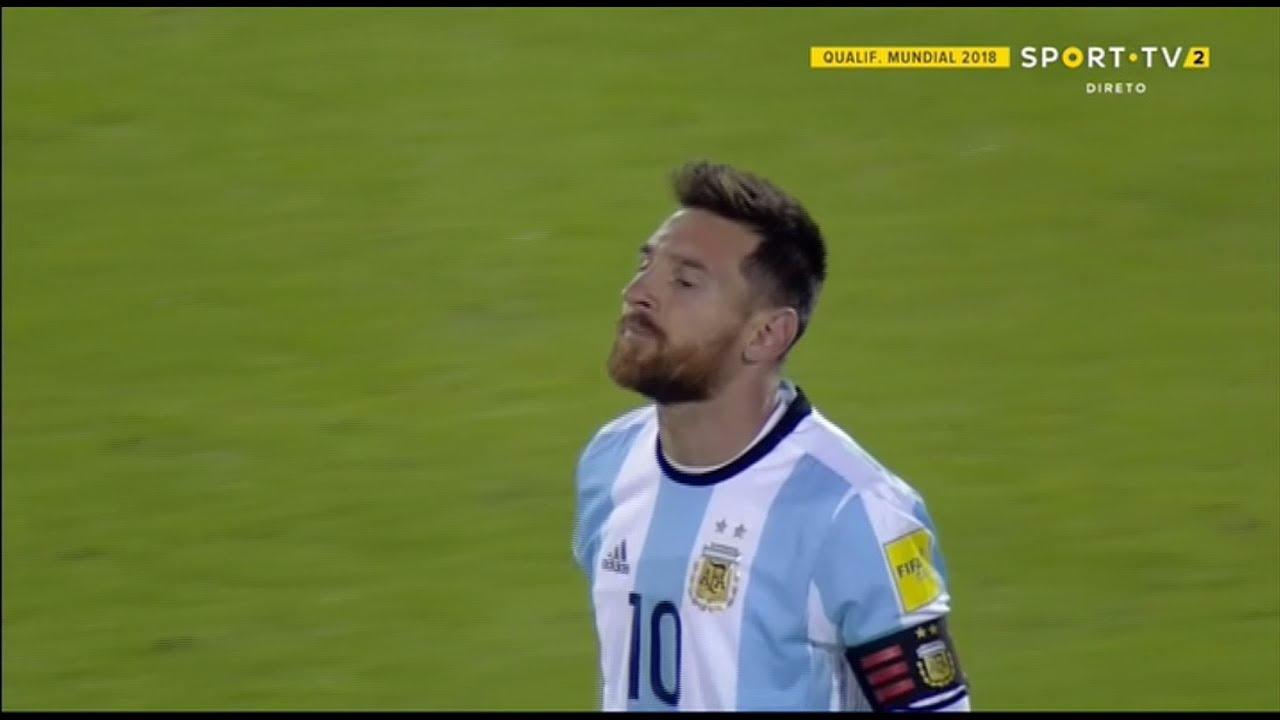 Mira el 'hat-trick' de Lionel Messi a Ecuador.