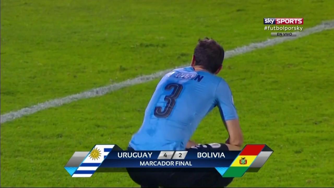 Revisa todos los goles del Uruguay 4-2 Bolivia en Montevideo.
