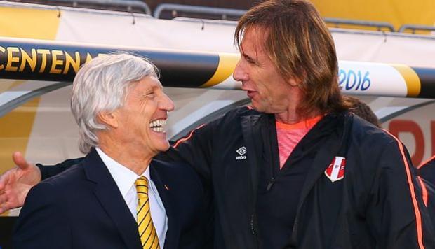 Ricardo Gareca y José Néstor Pékerman son buenos amigos. Aunque este martes en el Estadio Nacional los técnicos argentinos se jugarán una final.