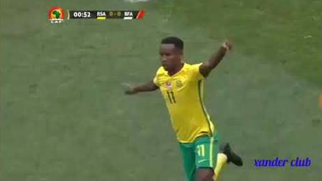 El gol fantasma de Sudáfrica a Burkina Faso en las Eliminatorias africanas.