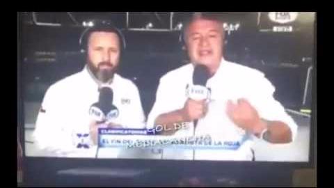 Esta fue la reacción de Claudio Borghi en el programa de Fox Sports.