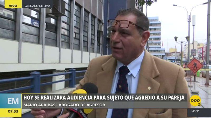 Mario Arribas Chimpen dijo que las lesiones que infringió su patrocinado a su pareja no justifican una denuncia por intento de feminicidio.