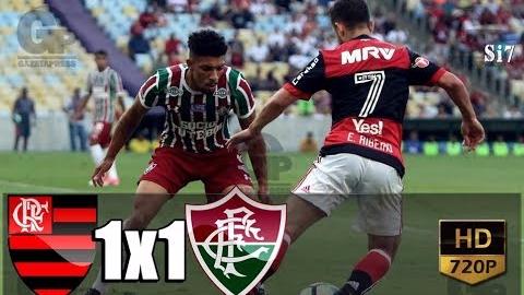 Flamengo empató 1-1 con Fluminense en el Estadio Maracaná de Río de Janeiro.