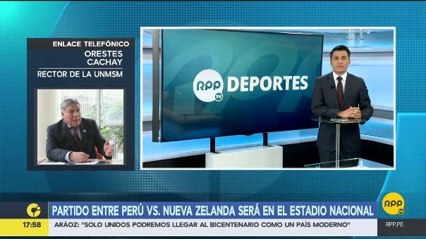 El recto de la UNMSM confirmó en RPP Noticias que el concierto de Green Day será trasladado y Perú jugará en el Nacional.